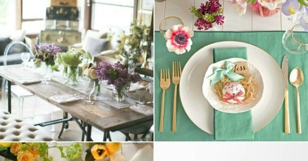 8 easter tablescapes
