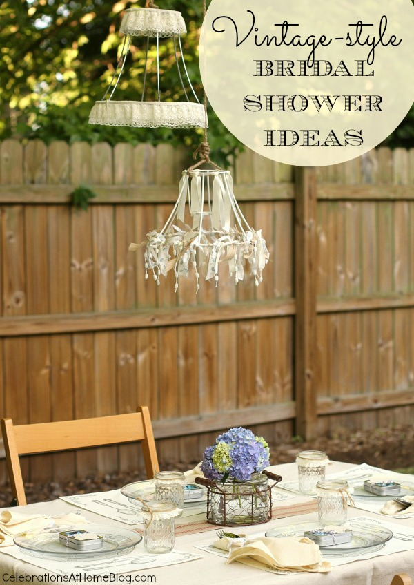vintage style bridal shower ideas