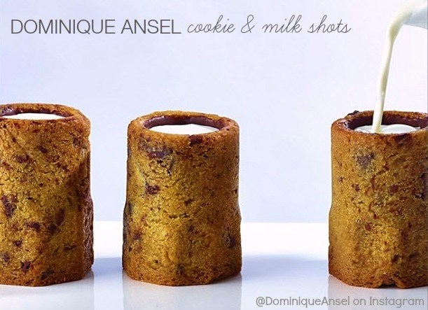 Dominique Ansel cookie and milk shots