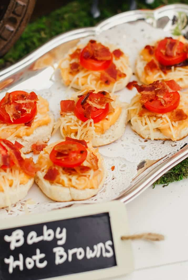 baby hot browns appetizers for Kentucky derby party