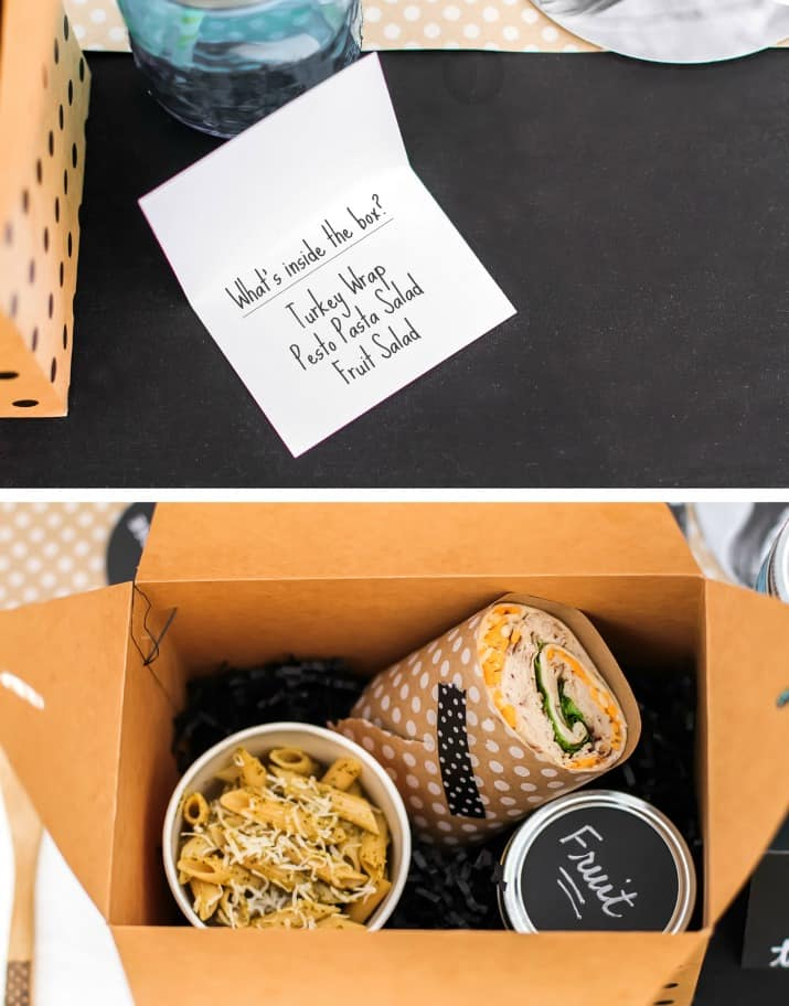 what to put in a boxed lunch