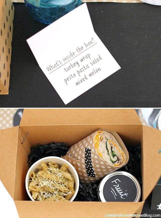 graduation party ideas boxed lunch