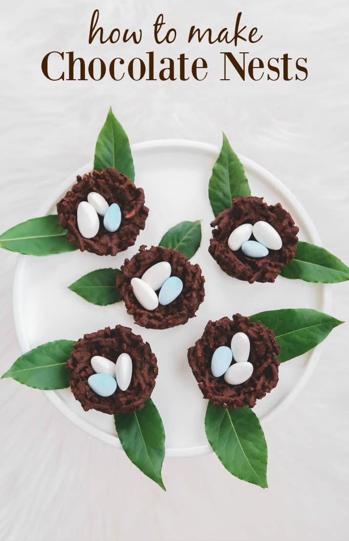 How to make chocolate nests with candy eggs