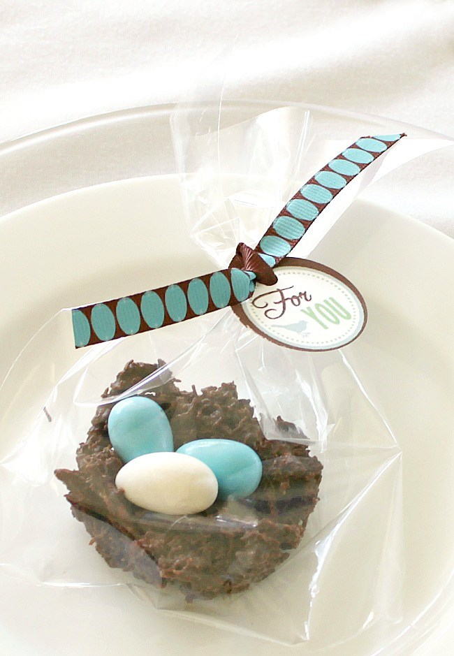 """Find out how to make chocolate nests for Easter, a """"nesting"""" themed shower, or any Spring entertaining. They're adorable and delicious!"""