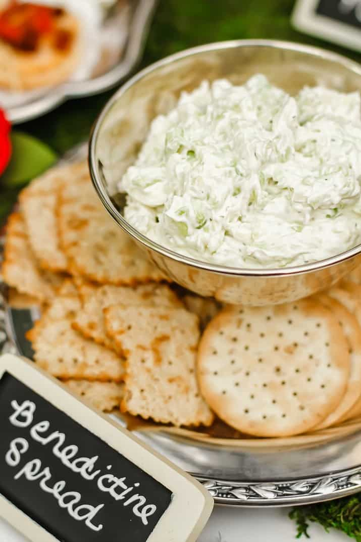 Benedictine spread for Kentucky Derby party