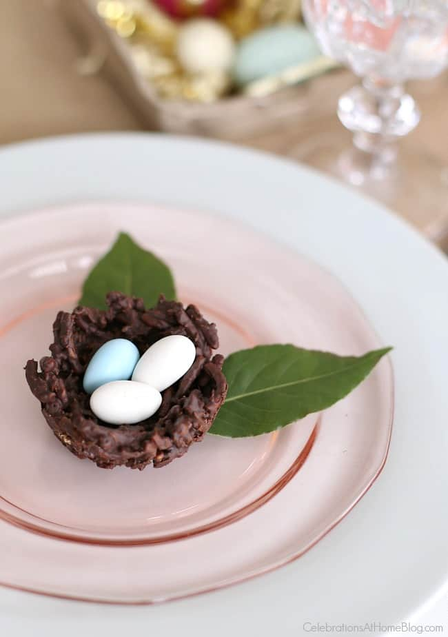 "Find out how to make chocolate nests for Easter, a ""nesting"" themed shower, or any Spring entertaining. They're adorable and delicious!"