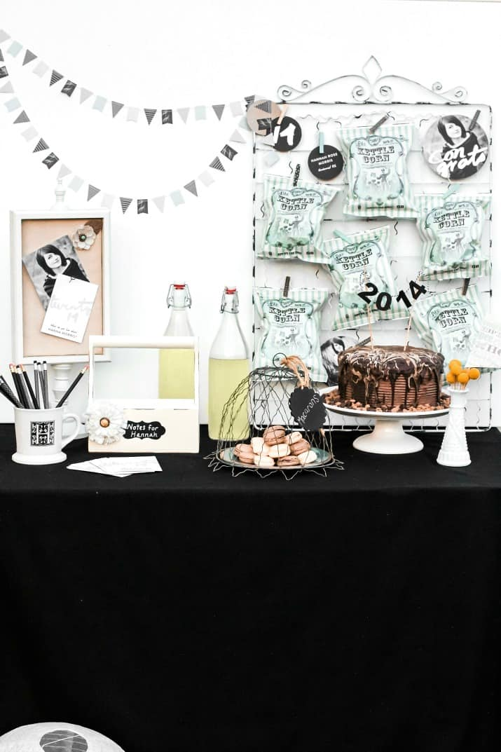 shabby chic graduation dessert table