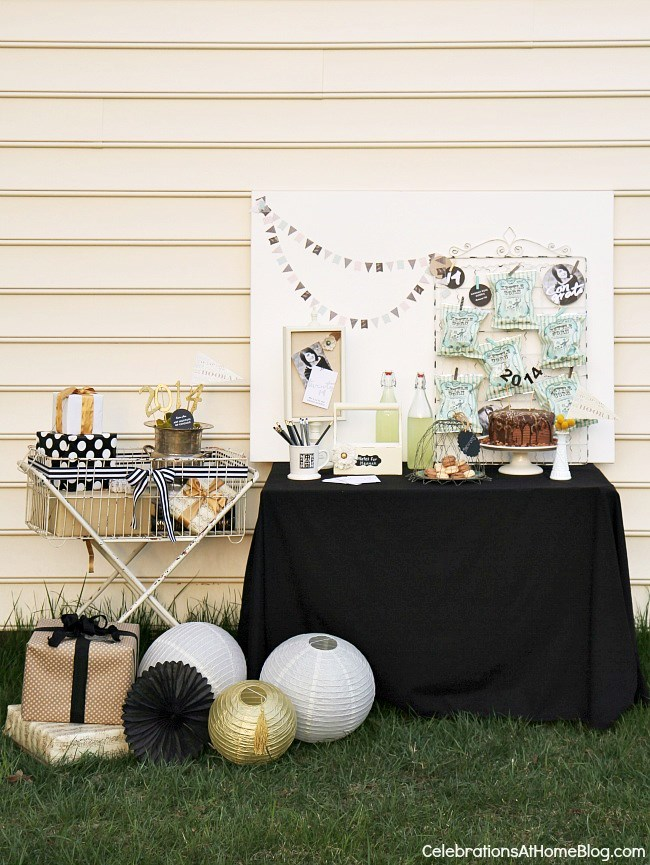more graduation party ideas with a dessert table and gift area