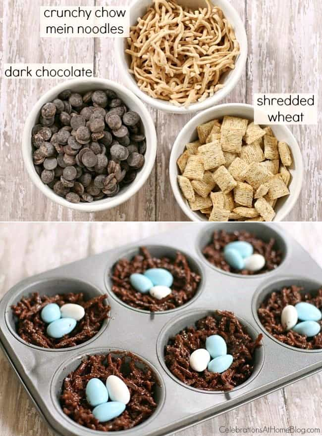 how to make chocolate nests