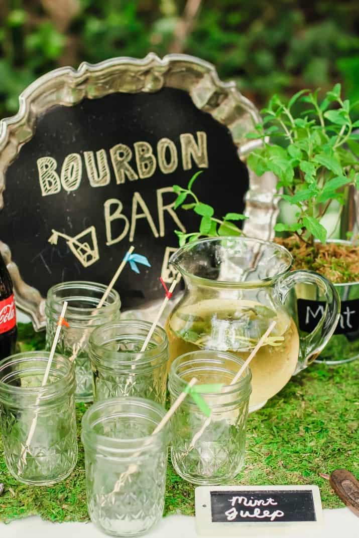 Kentucky Derby party bourbon bar