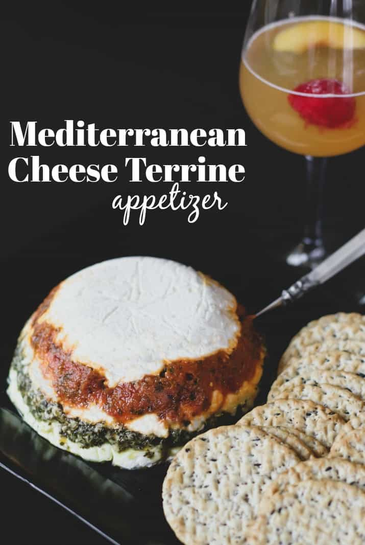 Mediterranean style cheese terrine party recipe