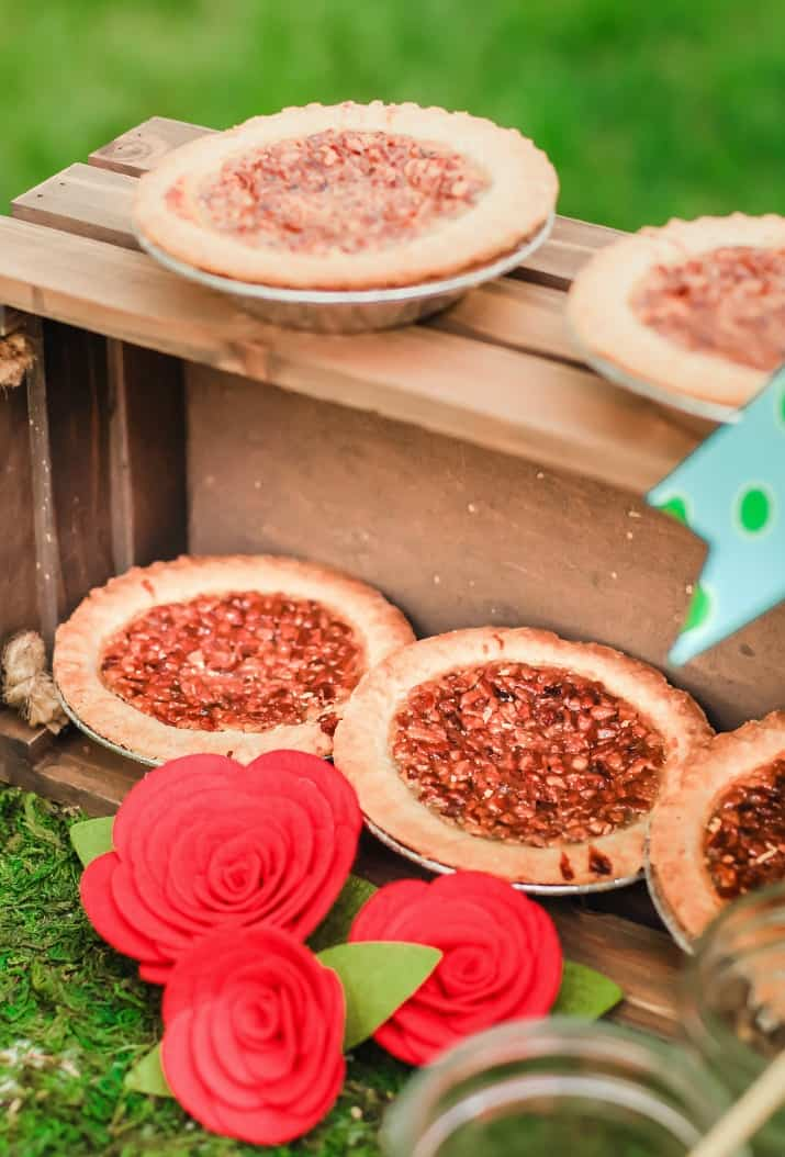 derby party mini pecan pies