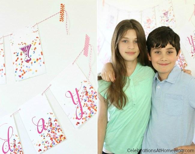 confetti themed birthday party