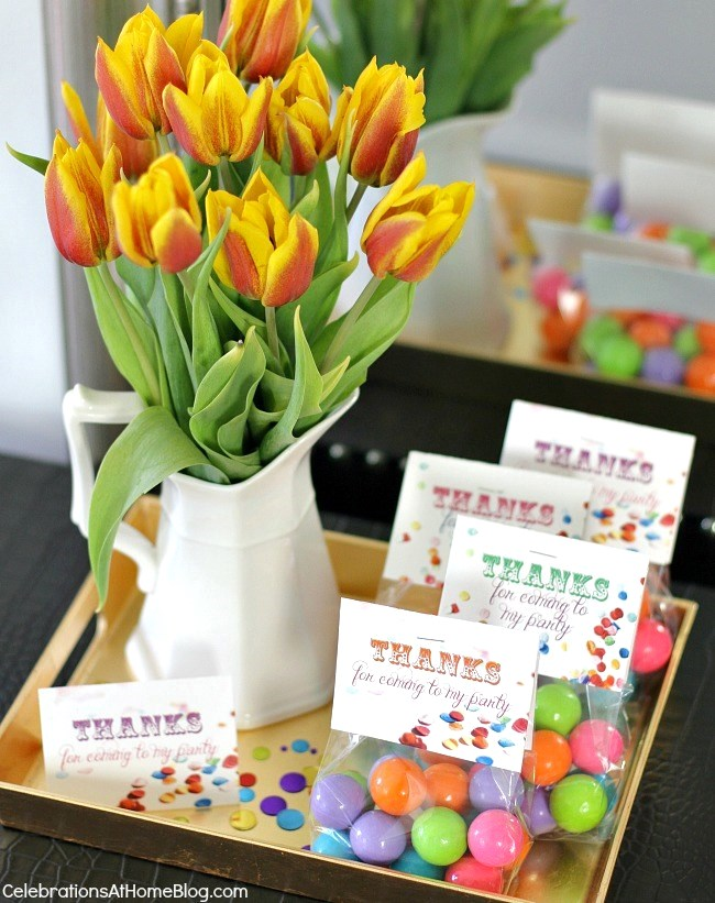confetti themed birthday party_favors