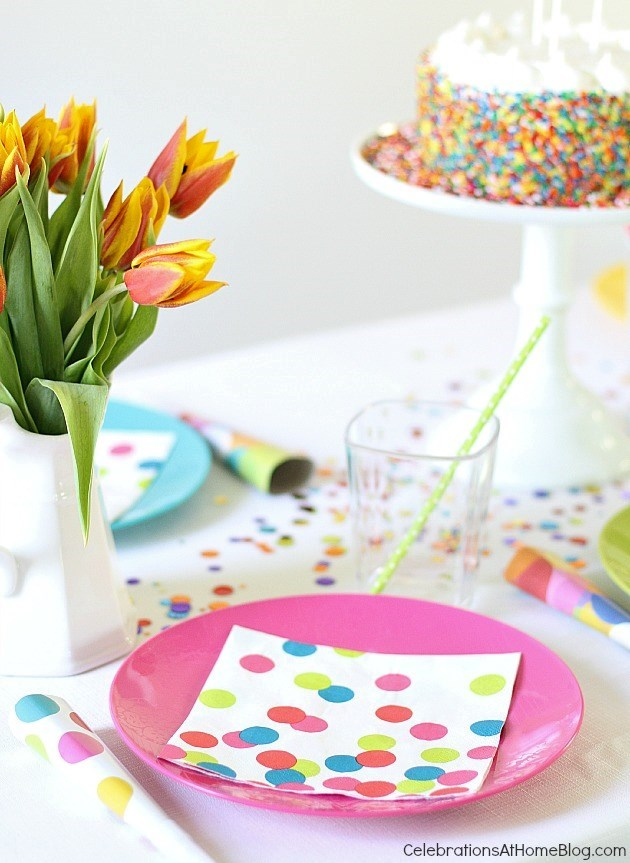 confetti themed birthday party