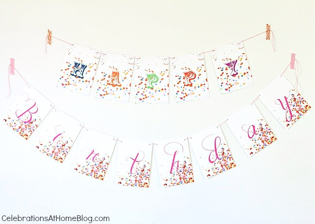 confetti themed birthday party_banner
