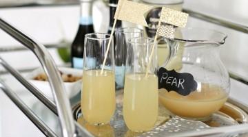 pear-ginger sparkling cocktail