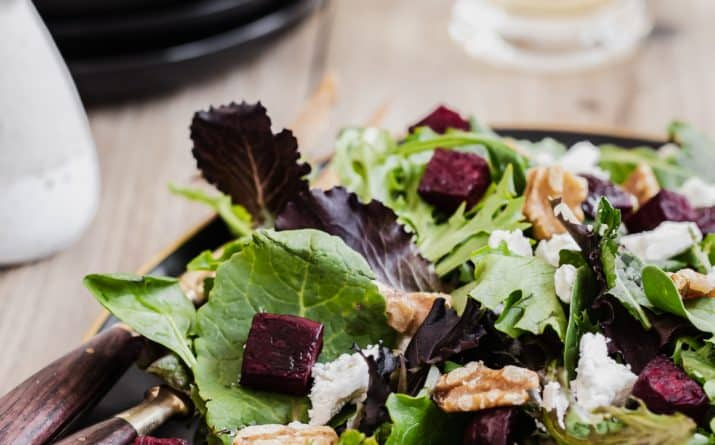 beet and goat cheese salad recipe card
