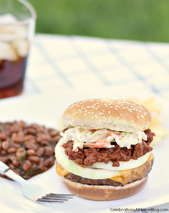 Build a Southern style burger with these essential toppings. See how we do burgers in the South. It's so full of flavor!