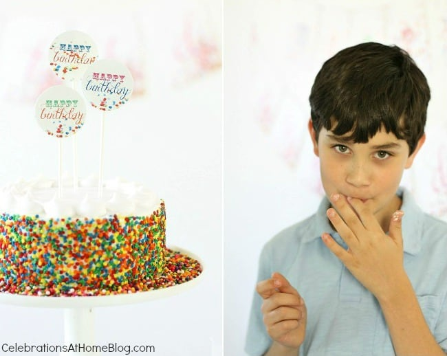 A confetti themed birthday party is perfect for celebrating boys, girls, or 1st year birthdays. Get ideas here.