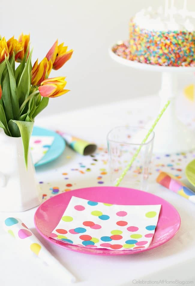 Confetti Themed Birthday Party Celebrations At Home
