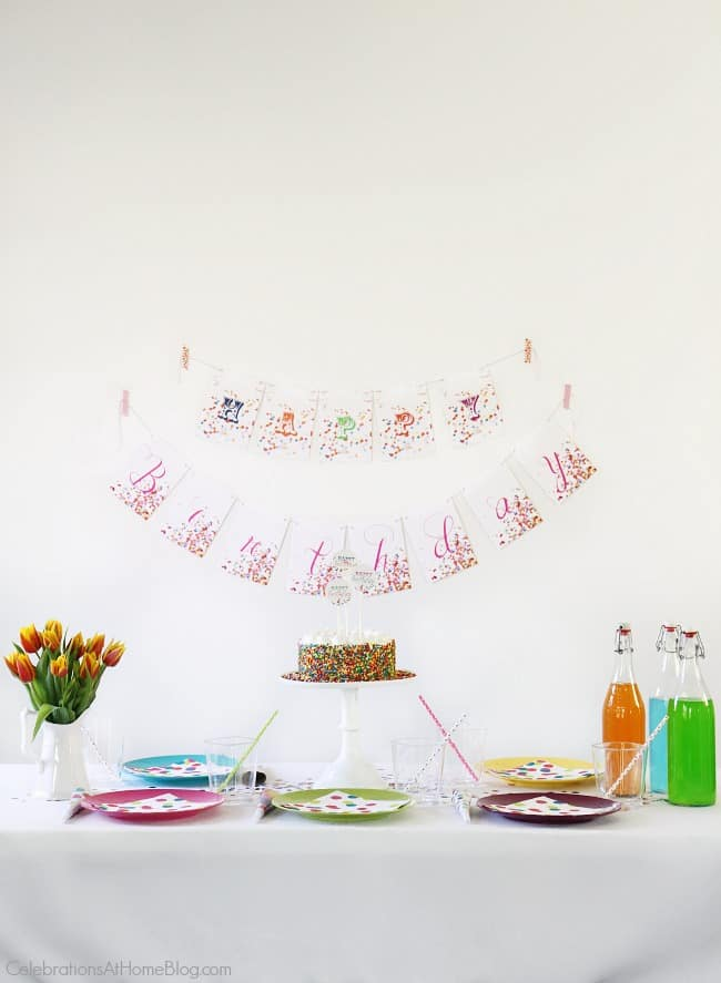 Confetti Themed Birthday Party - Celebrations at Home