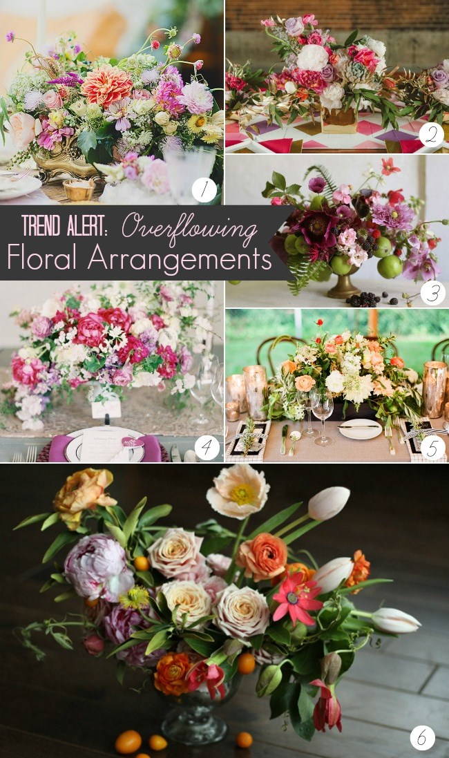 trend alert_overflowing floral arrangements