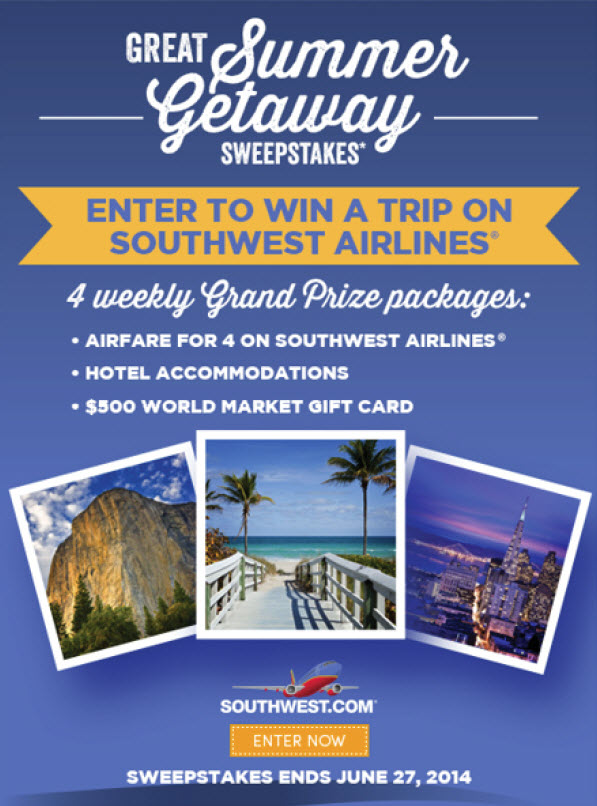 World Market Summer Getaway sweepstakes