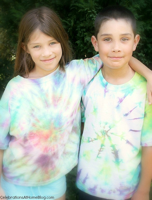 how to tie dye t-shirts