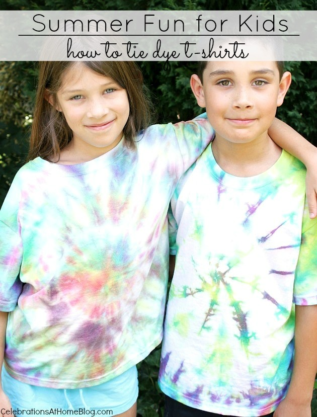how to tie dye t-shirts #diy #kidsactivity