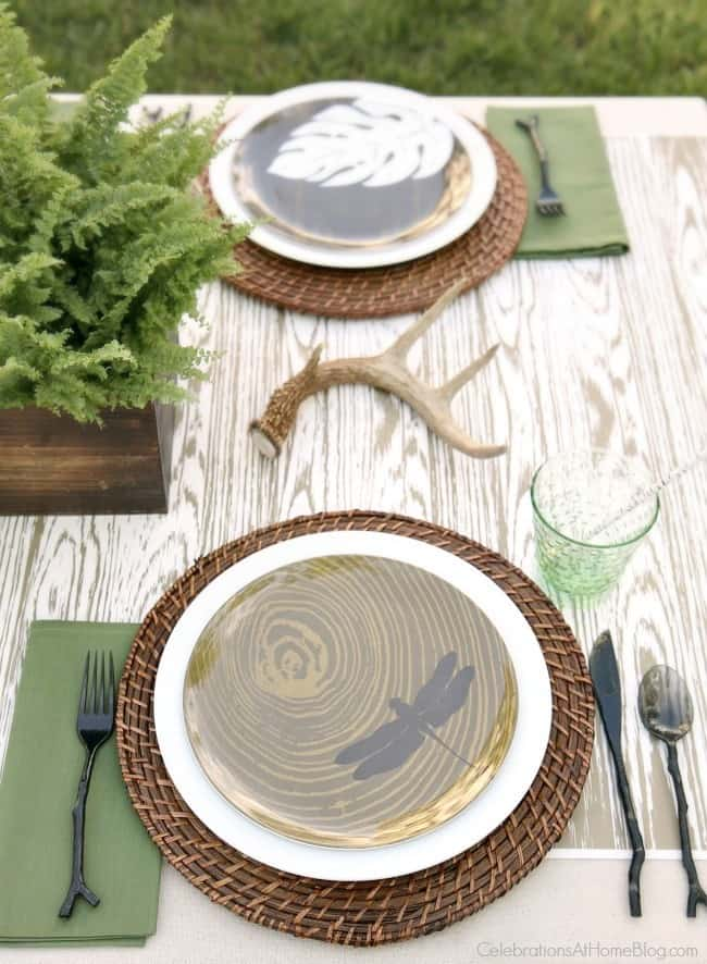 Create a nature inspired tabletop to celebrate the man in your life. Whether it's your husband, son, brother, or father, any guy can appreciate these masculine touches. Get inspiration and ideas here.