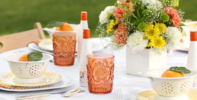 Summer Entertaining Orange Tablescape & Cake Recipe