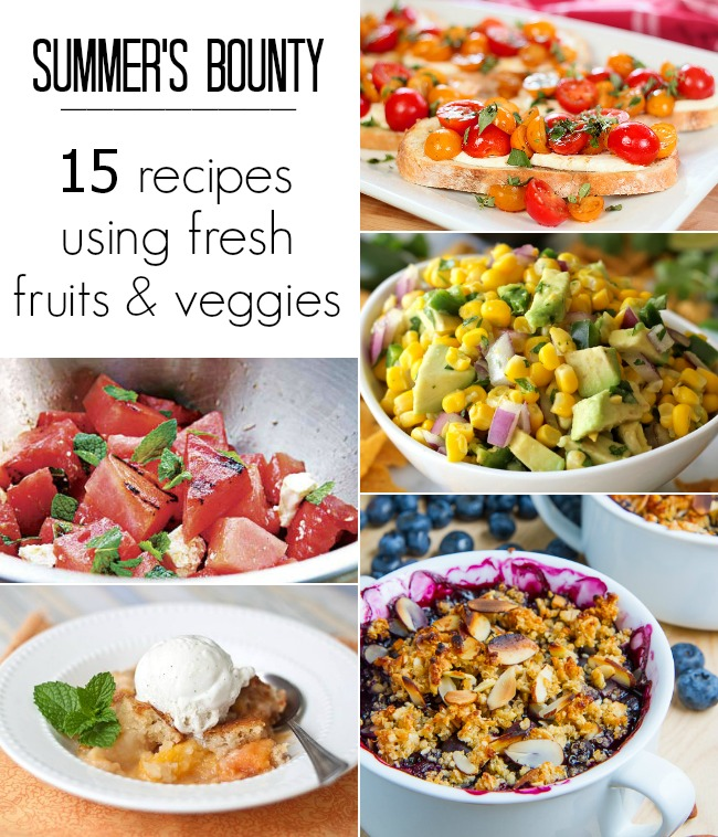 summer fruits and vegetables - recipes