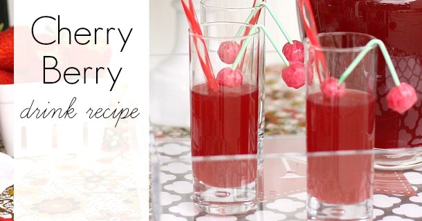Cherry-Berry Cocktail or Mocktail Recipe