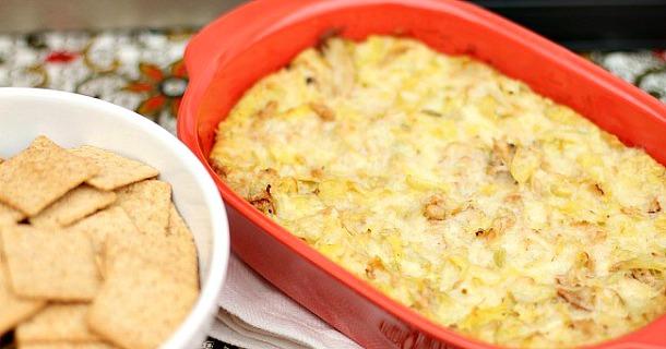 Baked Artichoke & Crab Dip