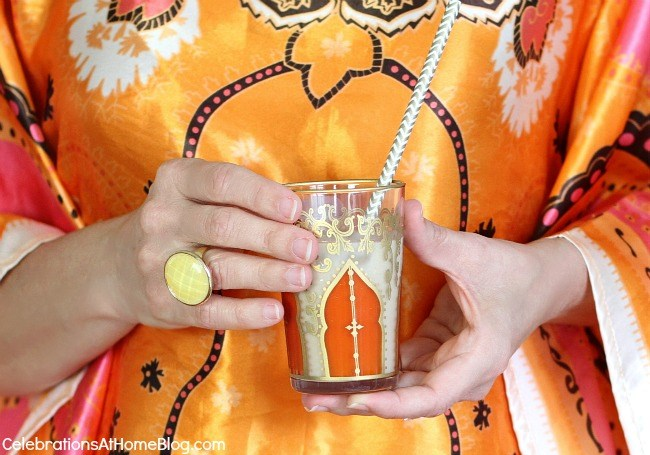 Entertaining - serve iced coffee in Moroccan tea glasses.
