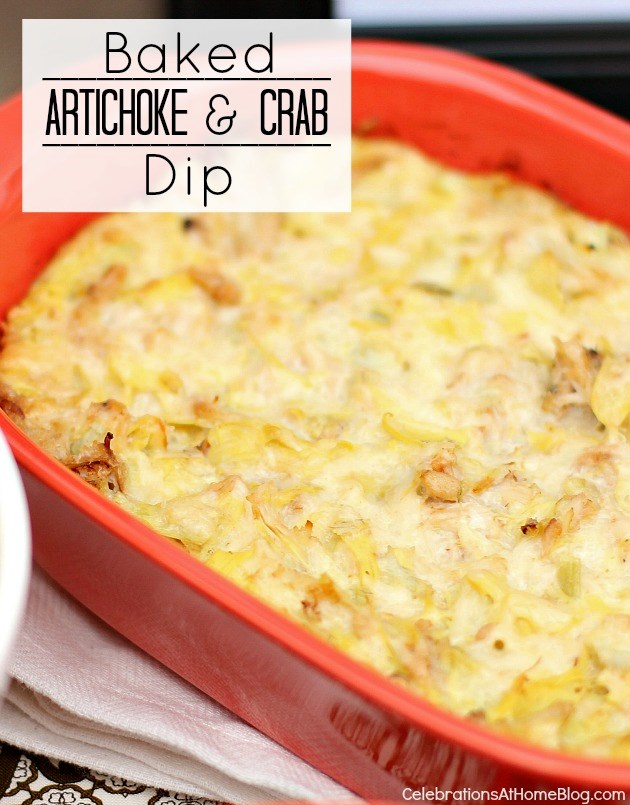 baked artichoke and crab dip