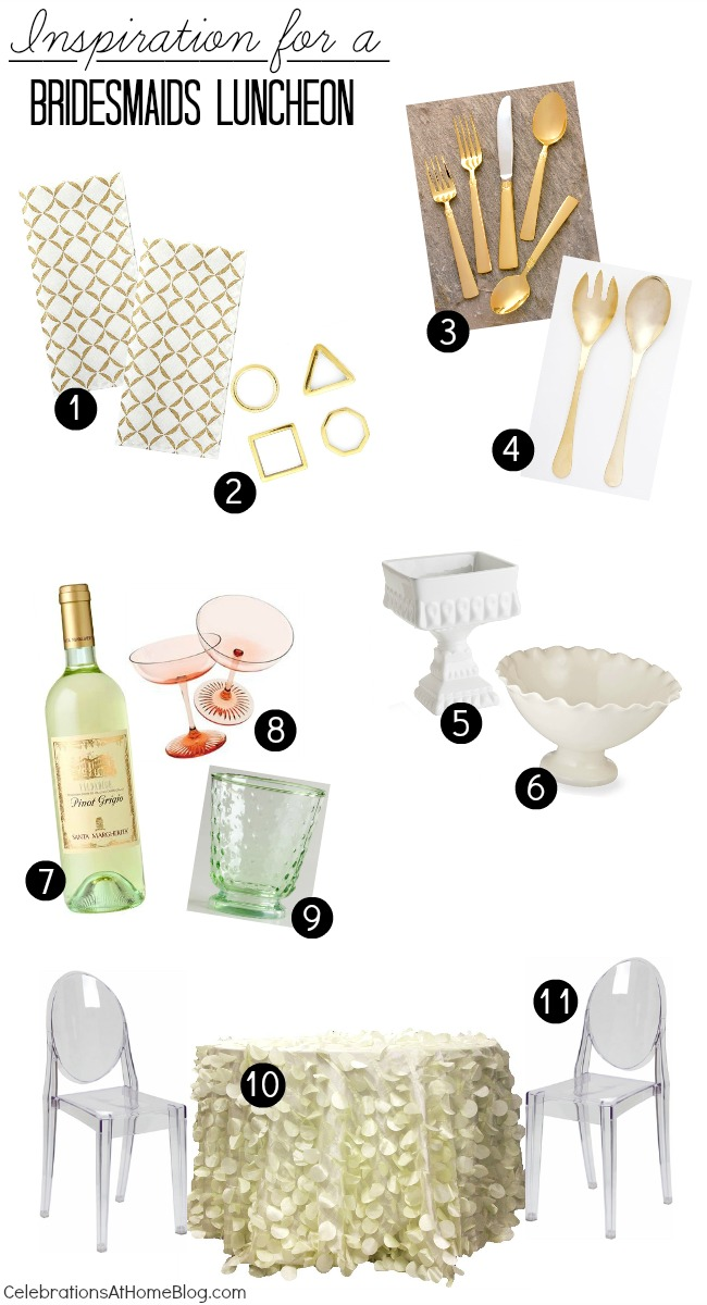bridesmaid luncheon inspiration board