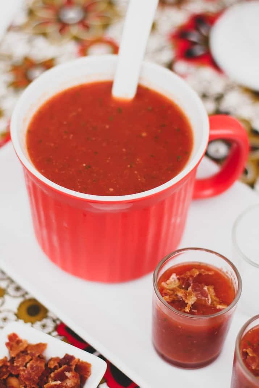 fresh homemade gazpacho recipe