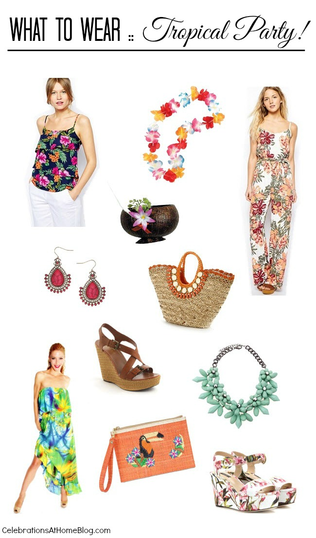 tropical party style