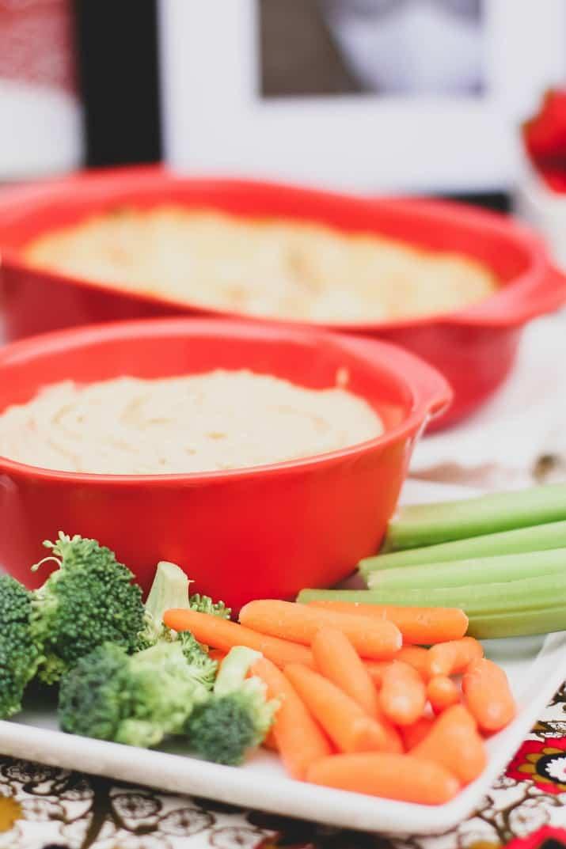 fresh veggies and hummus