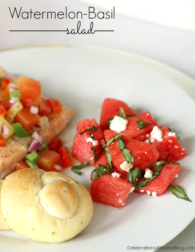 watermelon-basil salad