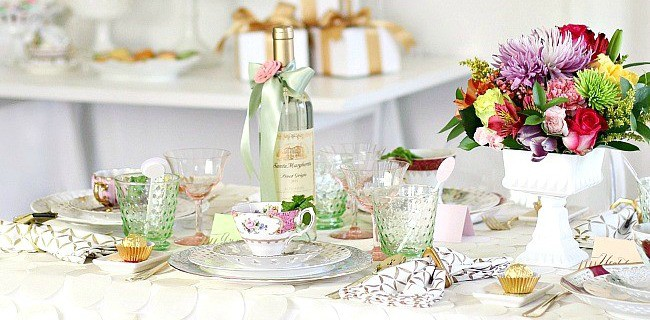 Bridesmaid Luncheon with Menu Recipes & Mod Meets Vintage style