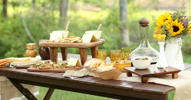 end of summer party- appetizers and sangria