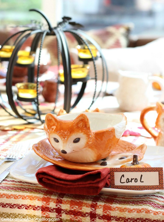 whimsical Autumn table setting