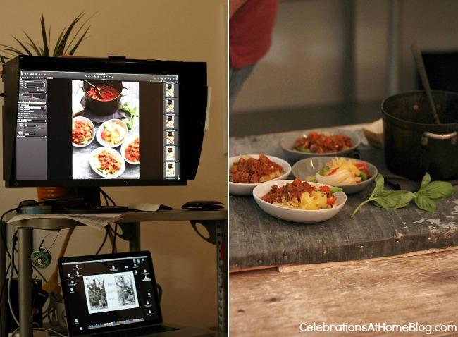 BHG food styling photo shoot