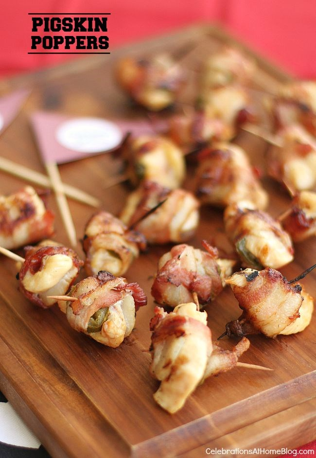 These pigskin poppers are unlike any other and you won't be able to stop at just one! Perfect for football season or any casual party.