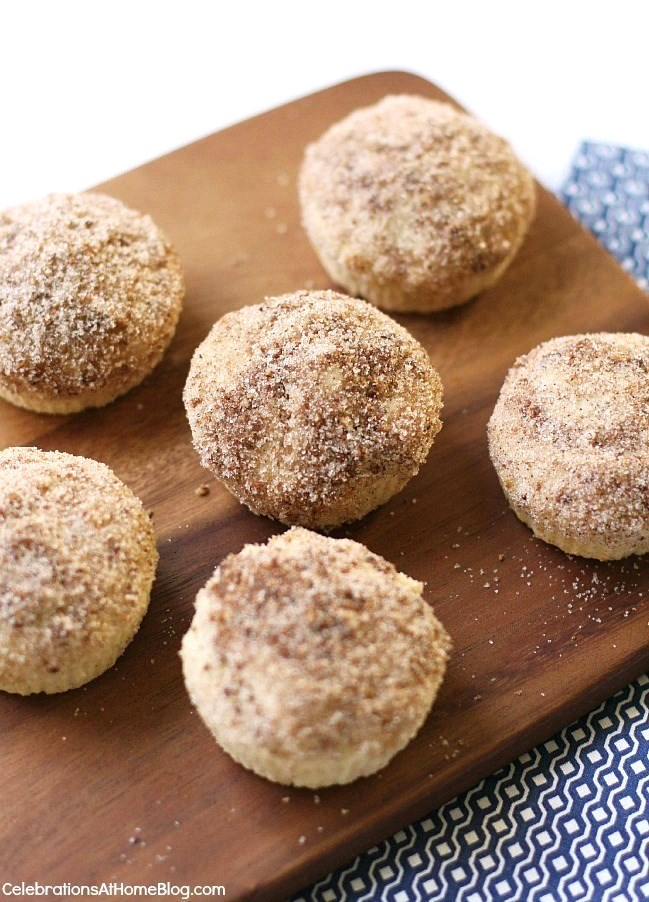 These cinnamon-sugar muffins are a great way to start your day or have during coffee break.
