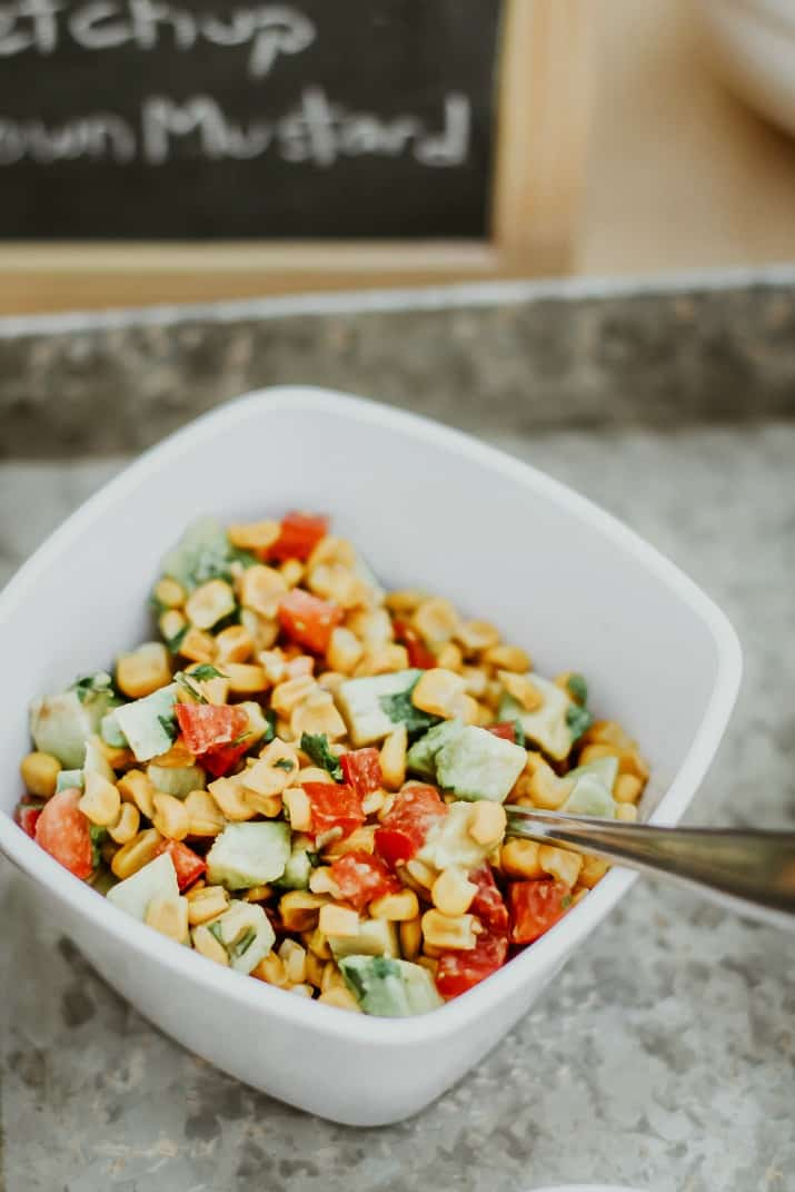 roasted corn and avocado relish