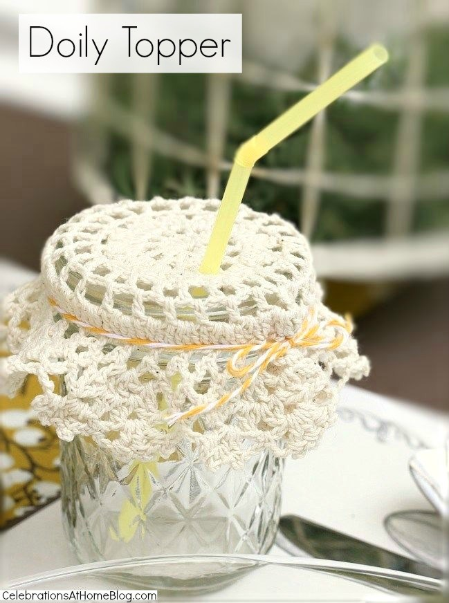 4 ways to keep those pesky bugs out of your summer drinks - doily topper